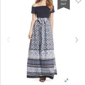 ELIZA J NWT Off-the-Shoulder Maxi Dress